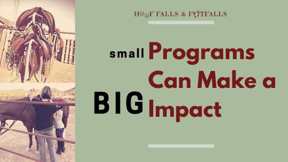 Small Programs Can Make a BIG Impact