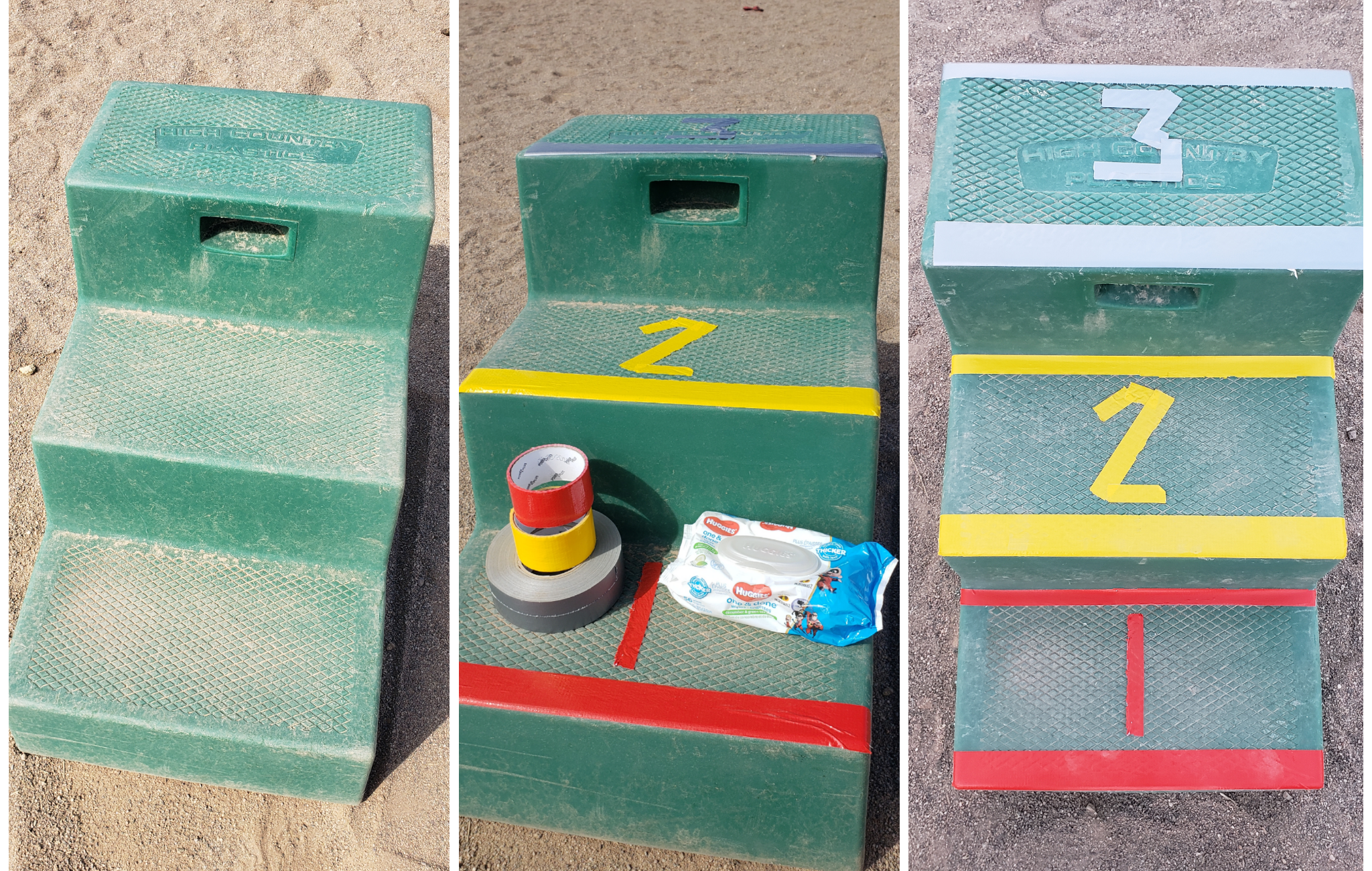 Supporting Visually Impaired Riders- Quick, easy, and cheap adaptation of a mounting block